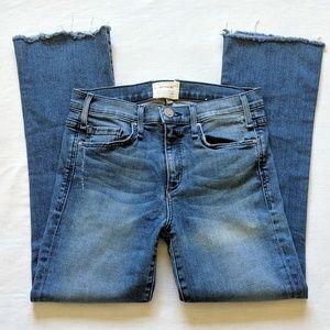 McGuire Cropped Raw Hem Jeans Sz 25